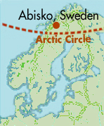 About Abisko Scientific Research Station - Sweden map arctic circle